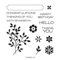 Vine Design Cling Stamp Set