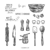 What's Cookin' Cling Stamp Set