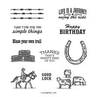 Ride The Range Cling Stamp Set