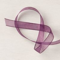 Blackberry Bliss Striped Ribbon