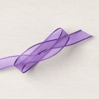 "3/8"" (1 Cm) Gorgeous Grape Sheer Ribbon"