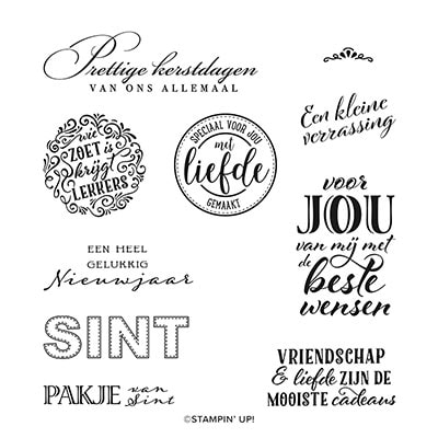 Cadeauseizoen Cling Stamp Set (Dutch)