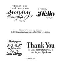 Sunny Sentiments Cling Stamp Set (English)