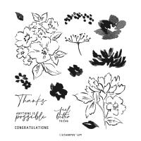 Hand Penned Petals Photopolymer Stamp Set