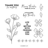 Flowers Of Friendship Cling Stamp Set