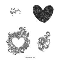 Henna Hearts Cling Stamp Set