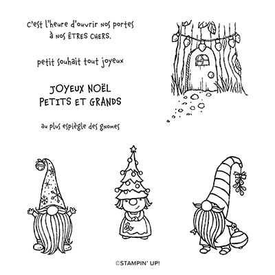 Noël Chez Les Gnomes Cling Stamp Set (French)