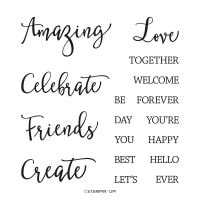 Create With Friends Photopolymer Stamp Set
