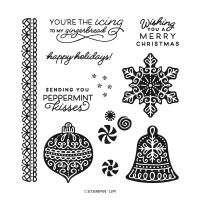 Frosted Gingerbread Photopolymer Stamp Set (English)