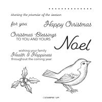 Happy Holly Days Cling Stamp Set (English)