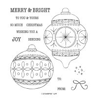 Bright Baubles Cling Stamp Set