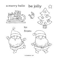 Be Jolly Cling Stamp Set