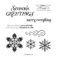 Merry Snowflakes Cling Stamp Set (English)