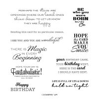 In Your Words Host Cling Stamp Set (English)