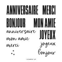 Souhaits En Grand Photopolymer Stamp Set (French)