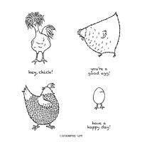 Hey Chick Cling Stamp Set (English)